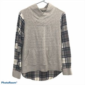 Ruff Hewn mock neck flannel top small